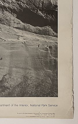 National Parks Poster: The White House at Canyon de Chelly National Monument, Photo by Ansel Adams (1968)