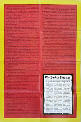 Mike Kelley: The Greatest Tragedy of President Clinton's Administration [Poster, 1999]
