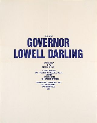 The Next Governor Lowell Darling. Lowell Darling