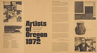Artists of Oregon 1972: Portland Art Museum. Francis Newton