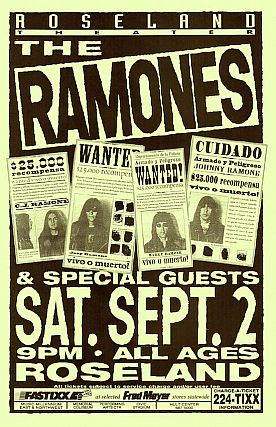 The Ramones at Roseland Theater. Mike King
