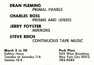 Four Pianos: Three Evenings of Music & Continuous Tape Music [Set]