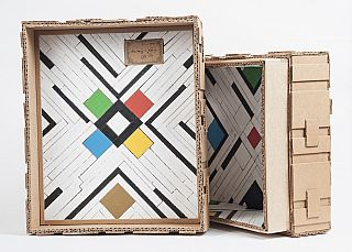 Tramp Art and Bauhaus-Inspired Box