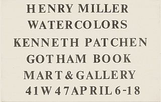 Henry Miller and Kenneth Patchen at Gotham Book Mart. Henry Miller, Kenneth Patchen