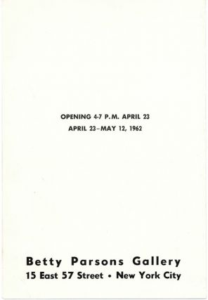 Paolozzi: Betty Parsons Gallery