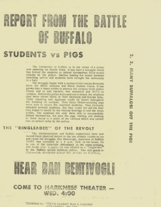 Report from the Battle of Buffalo: Students vs. Pigs. Dan Bentivogli