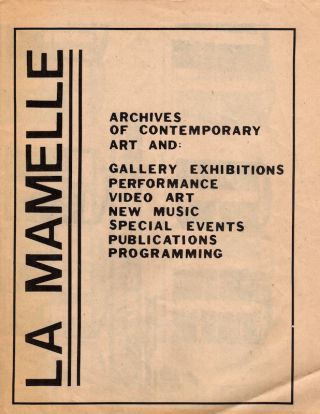 La Mamelle: Archives of Contemporary Art