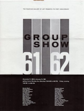 Fountain Gallery of Art: Group Show 1961/62