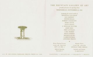 Fountain Gallery of Art: Invitation to First Opening