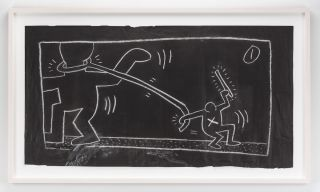 Original Keith Haring Free South Africa Subway Drawing. Keith Haring